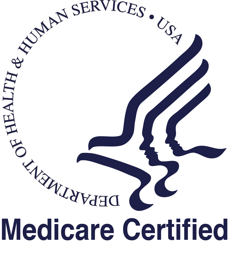 Medicare Certification Logo Bw Hospice Heart